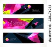 set of bright polygonal... | Shutterstock .eps vector #228176293