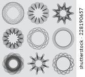 set of guilloche frames.... | Shutterstock .eps vector #228190657
