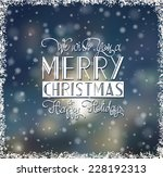 christmas card with hand drawn... | Shutterstock .eps vector #228192313