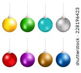 Christmas Balls In Different...