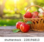 Organic Apples In Basket In...