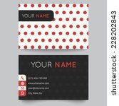 Business Card Template  Red An...