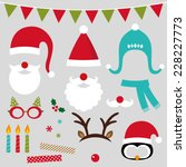 christmas photo booth and... | Shutterstock .eps vector #228227773