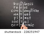 hand writing sustainable... | Shutterstock . vector #228251947