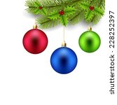 christmas decorations | Shutterstock .eps vector #228252397