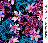 Seamless Dark Paisleys Pattern...