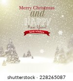 beautiful christmas background... | Shutterstock .eps vector #228265087