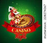 casino background with cards ... | Shutterstock .eps vector #228274267