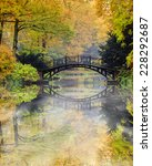 autumn   old bridge in autumn... | Shutterstock . vector #228292687
