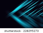 abstract blue neon fractal... | Shutterstock . vector #228295273