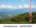Metallic Broadcasting Tower On...