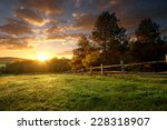 picturesque landscape  fenced... | Shutterstock . vector #228318907