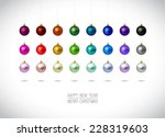 colorful christmas ornaments... | Shutterstock .eps vector #228319603