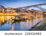 porto  portugal cityscape on... | Shutterstock . vector #228326983