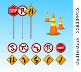 traffic sign vector | Shutterstock .eps vector #228334453