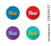 colorful set of new labels with ...