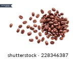 vector coffee beans on white... | Shutterstock .eps vector #228346387