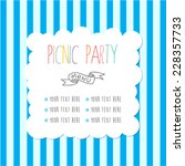 menu template for picnic party. ... | Shutterstock .eps vector #228357733