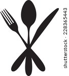 black cutlery setting isolated... | Shutterstock .eps vector #228365443