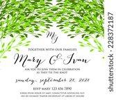 wedding invitation | Shutterstock .eps vector #228372187