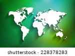 white world map on multicolor... | Shutterstock .eps vector #228378283