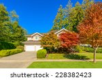 luxury house with double garage ... | Shutterstock . vector #228382423