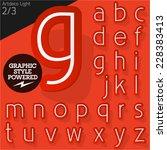 alphabet set of symbols in the... | Shutterstock .eps vector #228383413