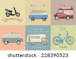 vector illustration of a travel ... | Shutterstock .eps vector #228390523