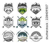 set of retro badges and label... | Shutterstock . vector #228409507