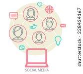 social media background of the...   Shutterstock .eps vector #228434167