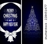 christmas card with a christmas ... | Shutterstock .eps vector #228451477