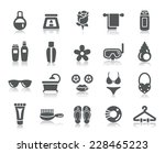beauty and cosmetic icons | Shutterstock .eps vector #228465223