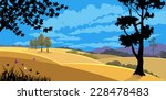 nature in flat colors | Shutterstock .eps vector #228478483
