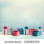 holiday christmas background... | Shutterstock .eps vector #228485293