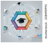 education and graduation... | Shutterstock .eps vector #228490993