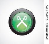 scissors glass sign icon green...
