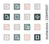 document web icons set | Shutterstock .eps vector #228495037