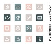 social media web icons | Shutterstock .eps vector #228496027