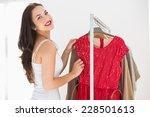 Smiling Shopping Brunette...