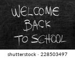 written welcome back to school... | Shutterstock . vector #228503497