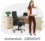 Businesswoman In An Office...