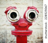 Red Old Fire Hydrant On A...