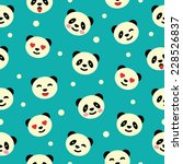 seamless pattern with panda.... | Shutterstock .eps vector #228526837