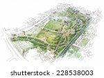 landscape with a city park | Shutterstock . vector #228538003