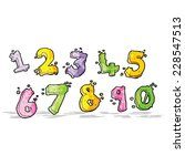 cartoon numbers | Shutterstock .eps vector #228547513