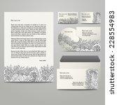 template for business artworks... | Shutterstock .eps vector #228554983
