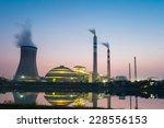 coal power plant in nightfall   ... | Shutterstock . vector #228556153