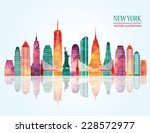 new york city. vector... | Shutterstock .eps vector #228572977