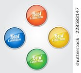 best collection colorful vector ... | Shutterstock .eps vector #228583147