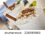 creamy rice pudding sprinkled... | Shutterstock . vector #228585883